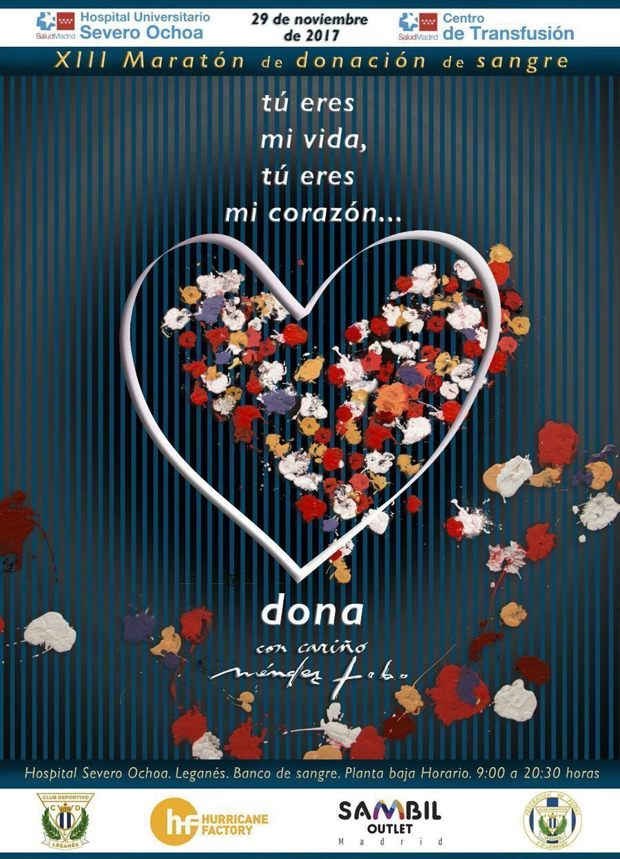 Cartel XIII Maratón de Donación de Sangre Leganés