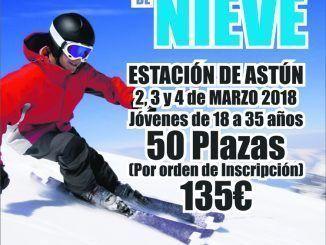 Cartel esquí Alcorcón