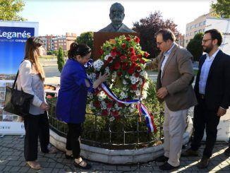 Maya Fernández Allende en el acto para recordar a la figura de su abuelo