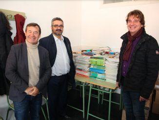 Fuenlabrada recoge 1.300 libros de texto que donará a un programa social europeo en Bulgaria