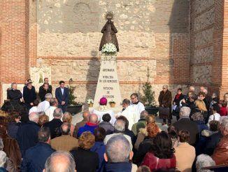 Esta mañana se ha inaugurado el monolito en honor a Nuestra Señora de los Remedios en Alcorcón