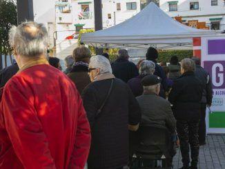 Más de 700 personas se acercaron a la chocolatada organizada por Ganar Alcorcón