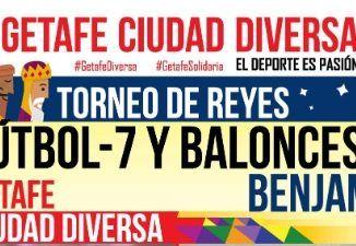 """300 niños y niñas participan en el """"Torneo de Reyes fútbol 7 y baloncesto benjamín Getafe Ciudad Diversa"""""""