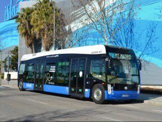La EMT prueba el nuevo autobús eléctrico Aptis de Alstom