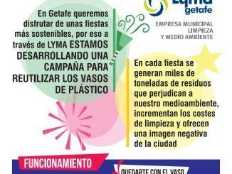 Getafe comenzará a reciclar vasos de plástico en estos Carnavales 2019