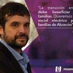 Jesús Santos propone un bono para abaratar la factura de la luz en Alcorcón