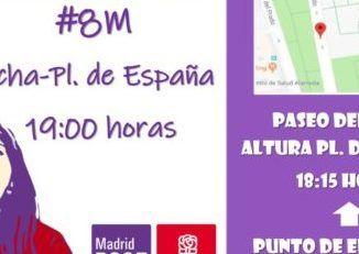 El PSOE de Alcorcón se suma a la huelga convocada por los sindicatos con motivo del Día Internacional de la Mujer