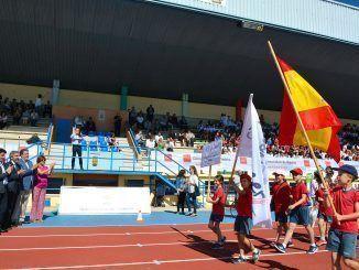 Alumnos durante las Olimpiadas Escolares