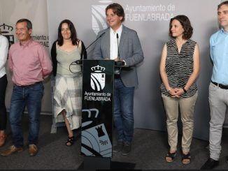 Ayala junto con el resto de responsables del nuevo Gobierno Municipal de Fuenlabrada