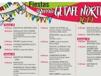Cartel fiestas Getafe Norte