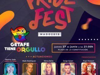 Cartel promocional del Orugllo LGTBI de Getafe
