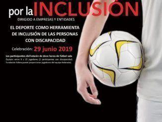 Cartel promocional del Torneo 12 horas de fútbol Sala por la Inclusión