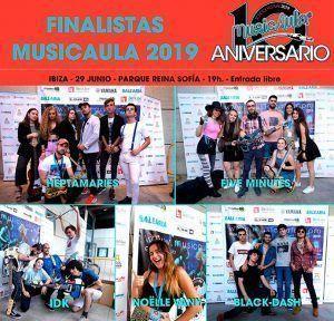 Cartel que reúne a los cinco finalistas del Musicaula School Festival 2019.