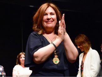De Andrés en su investidura como alcaldesa de Alcorcón