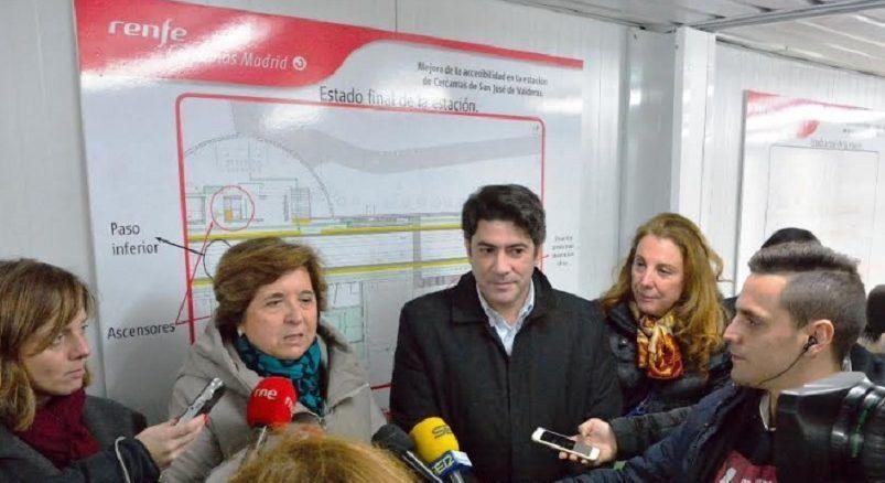 El PP de Alcorcón denuncia la dejadez con la apertura de la estación de San José de Valderas