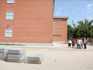 Obras en un centro educativo en Getafe