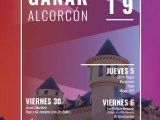 Cartel promocional de la caseta de Ganar Alcorcón para las Fiestas Patronales de 2019.
