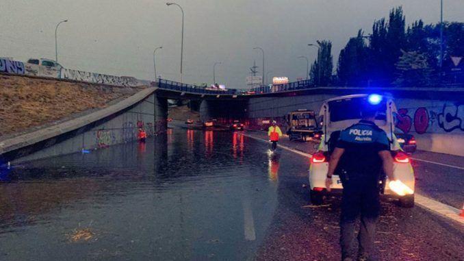 Destrozos en Alcorón a causa de las lluvías.