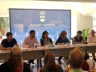 El equipo de Gobierno de Alcorcón explicando el programa de las Fiestas Patronales 2019