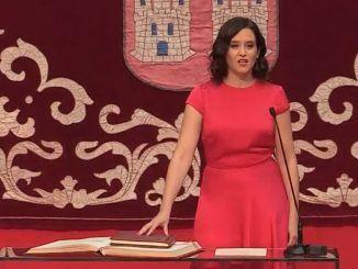 Díaz Ayuso toma posesión de su cargo como presidenta de la Comunidad de Madrid