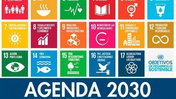Cartel de la Agenda 2030 diseñada por la ONU.