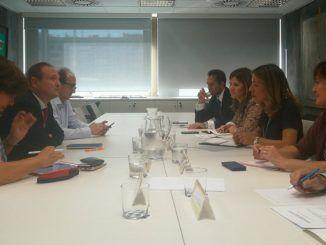 Reunión del delegado de Economía y la secretaria de Estado de Comercio