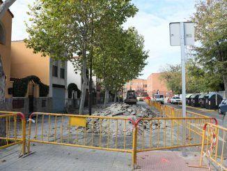 Obras en la calle Juan Francés en Getafe.