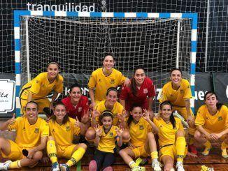 El equipo de as alfareras tras su victoria en Murcia.