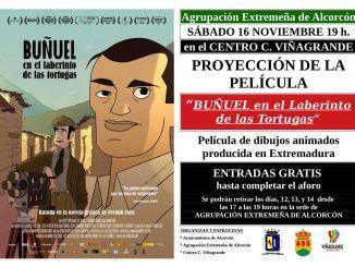 """Cartel de la película """"Buñuel en el laberinto de las tortugas""""."""