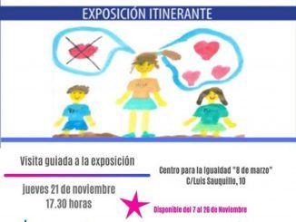 """Cartel promocional de la exposición """"Crecer con miedo""""."""