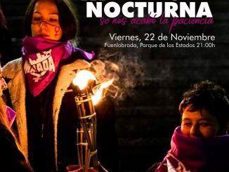 III marcha nocturna contra el acoso callejero en Fuenlabrada.