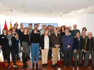 La alcaldesa de Alcorcón, Natalia de Andrés, recibe los diecisiete profesores visitantes del proyecto CORE.