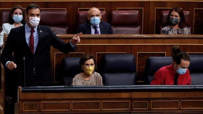 Pedro Sánchez este miércoles en la sesión de control al Gobierno
