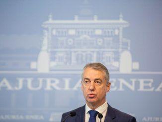 """Urkullu muestra su """"desagrado"""" con el acuerdo entre Madrid y Gobierno"""