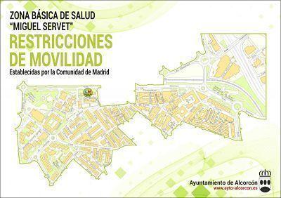 Mapa zonas básicas Miguel Servet en Alcorcón