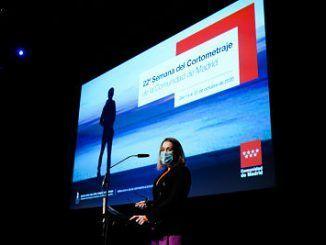 La consejera de Cultura y Turismo, Marta Rivera de la Cruz, en la Semana del Cortometraje
