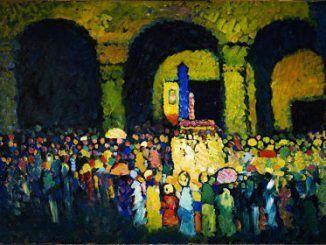 Thyssen Expresionismo - La Ludwigskirche en Múnich 1908. Óleo sobre cartón