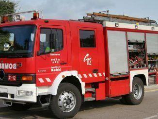 Un camión de bomberos de la Comunidad de Madrid