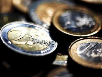 Detalle de monedas de euro