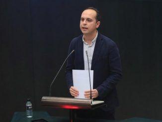 El concejal de Más Madrid, José Manuel Calvo del Olmo durante un pleno.