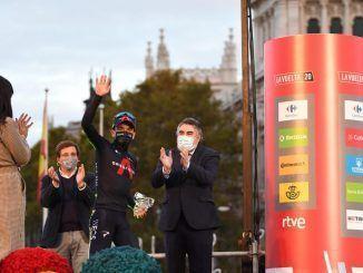 La Vuelta Ciclista a España en Cibeles