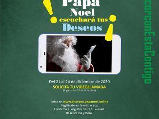Los Reyes Magos y Papá Noel recogerán de primera mano los deseos de los niños y niñas de Alcorcón a través de videollamadas personalizadas