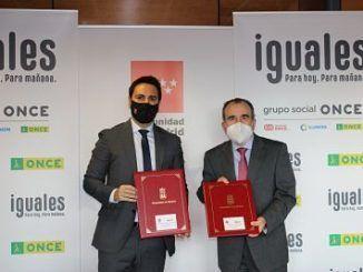 Firma del convenio de colaboración entre el Gobierno de la Comunidad de Madrid y ONCE