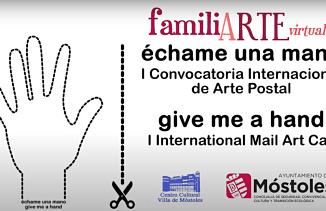 "Cartel exposición ""Échame una mano/ Give me a hand"""