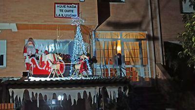 Balcón ganador del concurso de decoración navideña