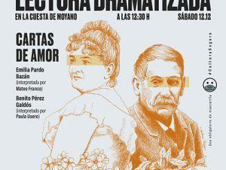 Cartel de la lectura dramatizada de Pérez Galdós y Pardo Bazán