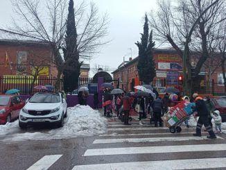 Los alumnos de colegio CEIP Juan de Ocaña de Móstoles, (Madrid)