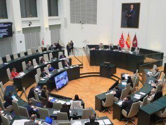 Vista general de un pleno del ayuntamiento.