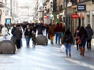 Vista de la calle Preciados de Madrid.
