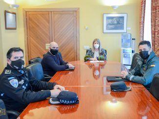 reuniones de coordinación en materia de salud pública entre Ayuntamiento, Policía Local y Guardia Civil